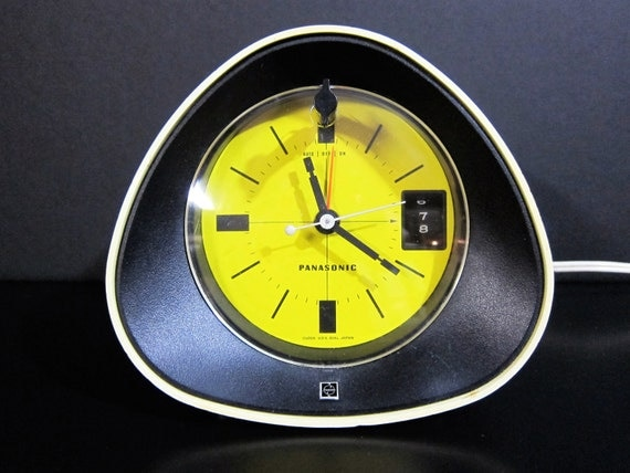 Panasonic Rc 1091 Mod Yellow Black Cream Am Clock Radio 1970s