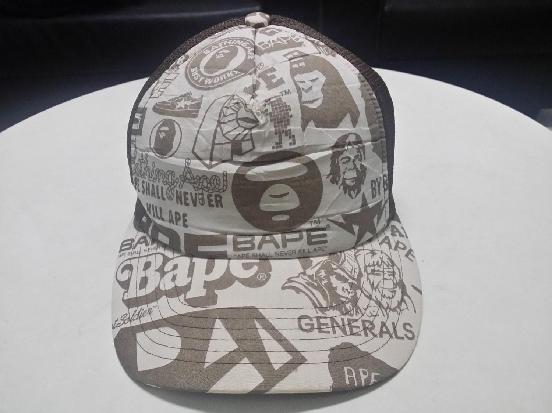Sale Snapback Trucker Bape By A Bathing Ape Fullprint Hats Cap Bape  Generals Ape Shall Never 74f528ba69f2