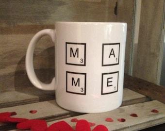 Valentines mug - valentines- marry me- marry me mug- proposal- engagement- engagement mug- scrabble- scrabble mug- wedding- proposal - ring