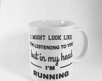 Running mug- runner mug- running-runner - mug for runner - mug running - mug marathon runner - run- marathon- athlete mug - fitness mug