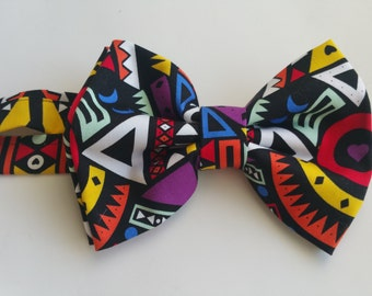 multicolored bow tie. neck tie