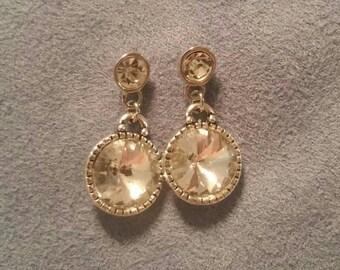 Silver rhinestone earrings