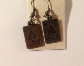 Ace of Spades Dangle Earrings