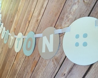 Cute as a Button banner - Baby Shower