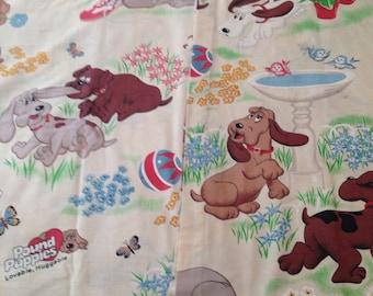 Vintage kids 1985 Pound Puppies curtains
