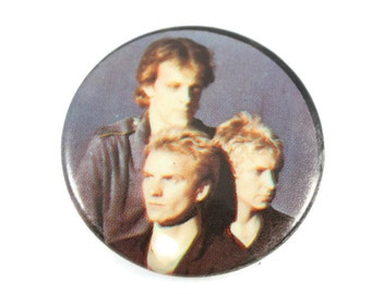 1980's Sting and The Police Pinback Button Vintage