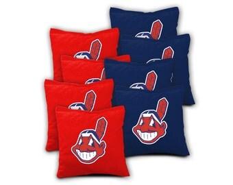 CLEVELAND INDIANS Set of 8 ACA Regulation Cornhole Bags Bean Bag Toss