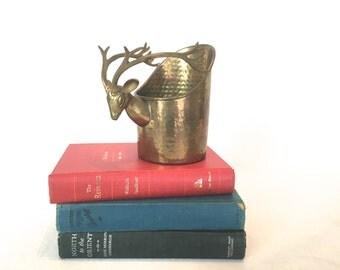 Deer Bowl, Reindeer Bowl, Antler Bowl, Brass Bowl