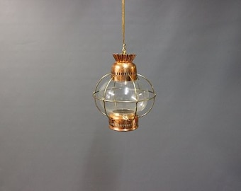 Ship lantern in copper from the 1960s.