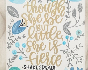 Shakespeare Quote Canvas