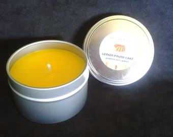 soy candle in 6 oz tin