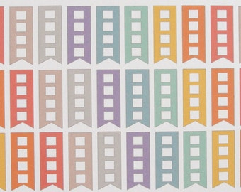 Short List Flags in Soft Colors for Inkwell Press Flex and Classic & Erin Condren horizontal  planners