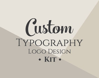 Custom Typography Logo Design (Kit)