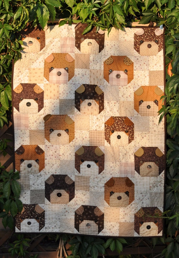 Quilt for sale Teddy Bear quilt patchwork baby toddler : bear quilts for sale - Adamdwight.com