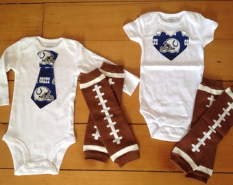 Go Indiana Colts! Onesie set for little Colts fan. Colts baby boy, Colts baby girl. Unique baby shower gift idea!
