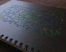Arrow-shaped Pattern - Notebook embroidered with a Geometric Design,  Islamic Geometric Art