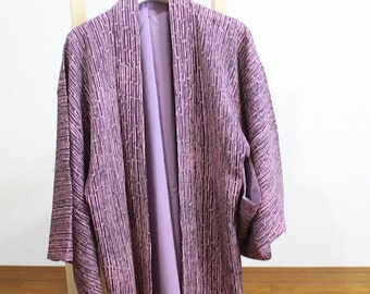 羽織 紫竹柄 着物