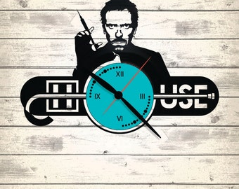Vinyl Clock/Doctor House / An interesting element of the decor/ For music and art lovers