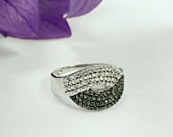 Sterling silver moissanite ring, moissanite ring, diamond ring, engagement ring,moissanite engagement ring,moissanite jewelry,silver jewelry