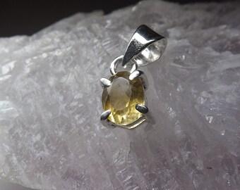 Natural Citrine Silver Pendant