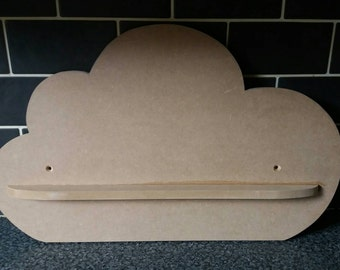 Girls nursery sky cloud shelf