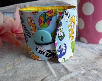 Reusable Coffee Cup Cozy - Life's A Beach