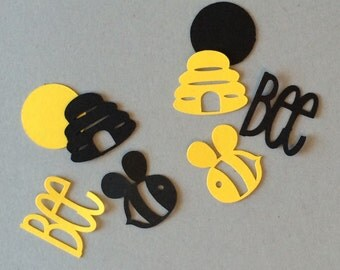 Bumble Bee Confetti, Beehives, What Will it Bee Gender Reveal, Mommy To Bee Baby Shower