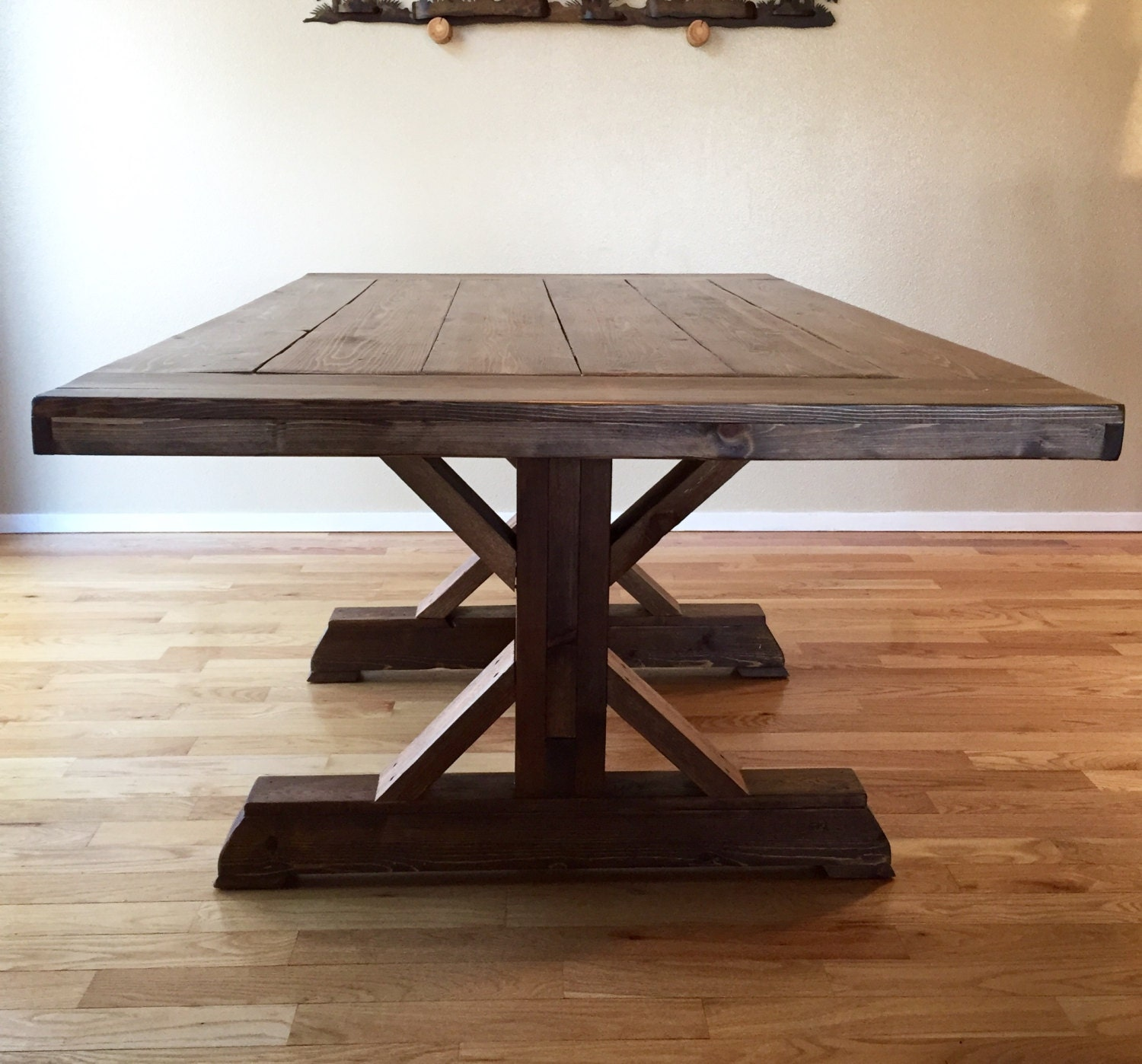 Farmhouse Table Trestle Style by OldVictoryOriginals on Etsy