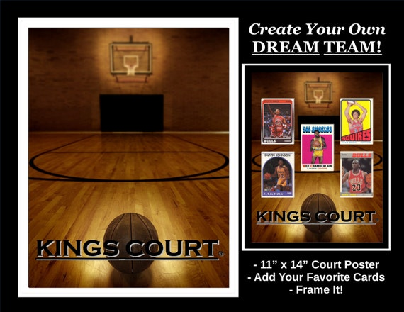 Kings Court Basketball Cards Poster 11x14 Create Your Own Nba