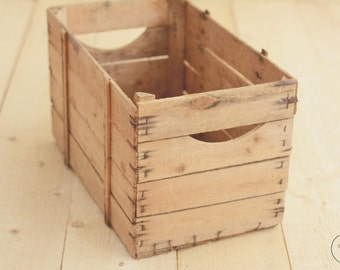 Large size rustic vintage wooden crate; Newborn Photo Prop; Posing Prop; Wooden box; Wooden crate; Baby prop