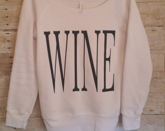 WINE Fleece Wide Neck Sweatshirt