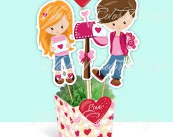 "Printable Centerpiece "" Love"" (Instant download)"