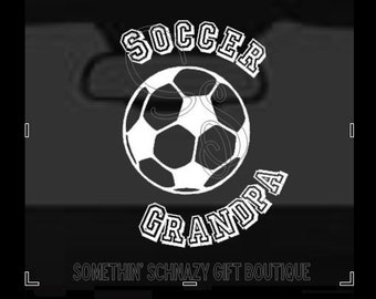 Soccer Grandpa Decal, Vinyl Decal, Soccer Vinyl Decal, Window Decal, Car Decal, Laptop Decal, Tablet Decal, Soccer Family Decal