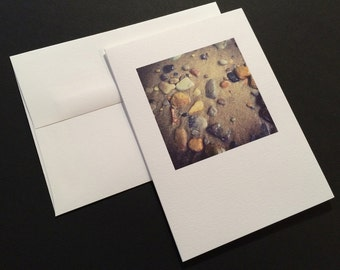 Beach Rocks. Blank Greeting Card. Note Card. Photo Card.