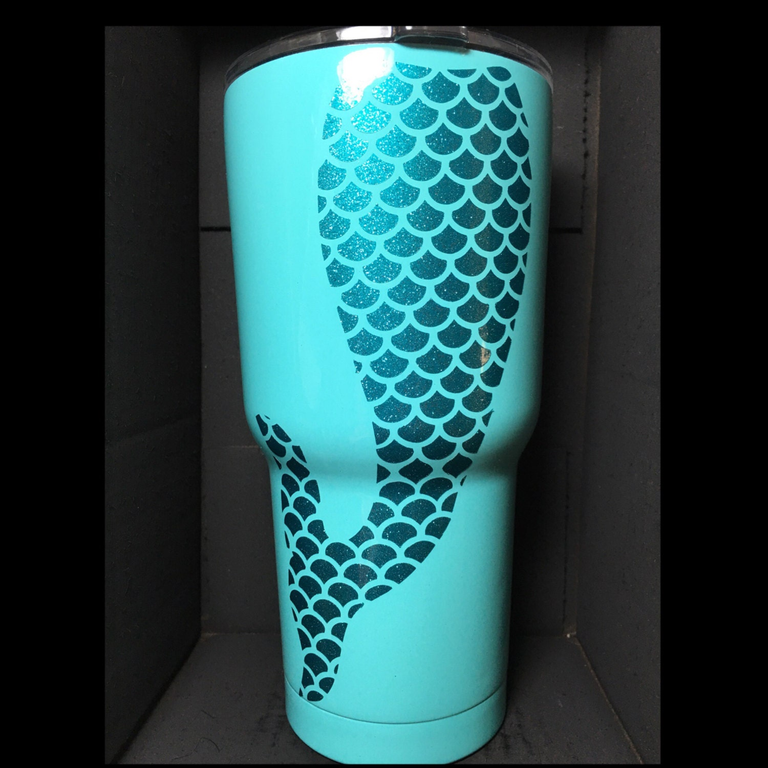 Mermaid Tail Customized Powder Coated Or Stainless Steel 30 Oz
