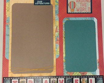 12x12 Premade Scrapbook Page-Travel