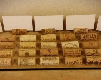 100 used natural wine cork place card decor