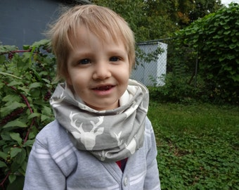 ORGANIC Bamboo Fleece INFINITY SCARF For Babies and Toddlers- 6 mos.-4 years old
