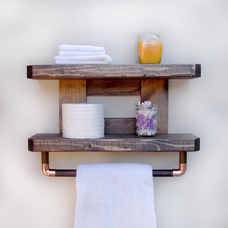 Wood Bathroom Shelves Rustic Bathroom Storage
