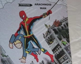 Old stock - must go!Arachnoid-man issue one art print A4 size