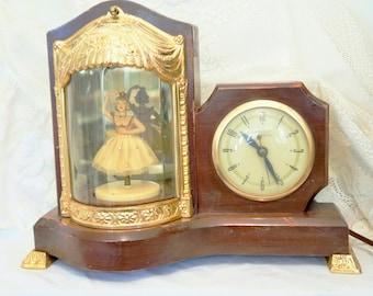 Dancing Ballerina Clock/Vintage Ballerina Clock/Musical Ballerina Clock/United Clock Company/Vintage Mantel Clock/Vintage United Clock