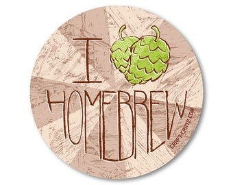 I Love/Hop Homebrew 3-inch Vinyl Sticker