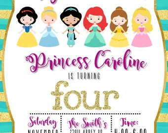 Disney Princess Birthday Invite
