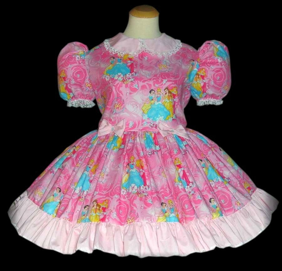 Adult Sissy Baby Dressbeautiful Pink Cotton By