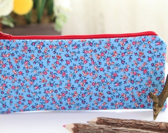 The Countryside Pencil Pouch, Pencil Case, FREE SHIPPING with another purchase, Pencil Bag, Zipper Pouch, Gadget Case, School Supplies