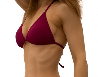 Rockadi Swimwear Triangle Bikini Top, Lovely Plain Colours.  Longer Lasting & Eco Friendly
