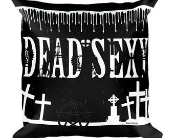 alternative gothic pillow case