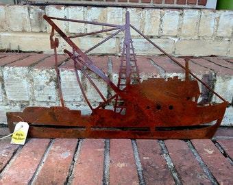 Rustic shrimp boat