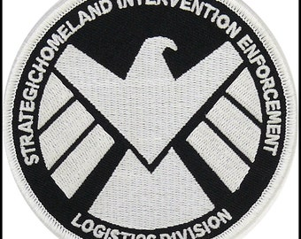 Marvels Agent of Shield Glow In The Dark Embroidery Patch Iron & Sew On ~~ Us Seller ~ Free Shipping ~~