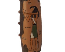Egyptian vase with ancient god Thoth design